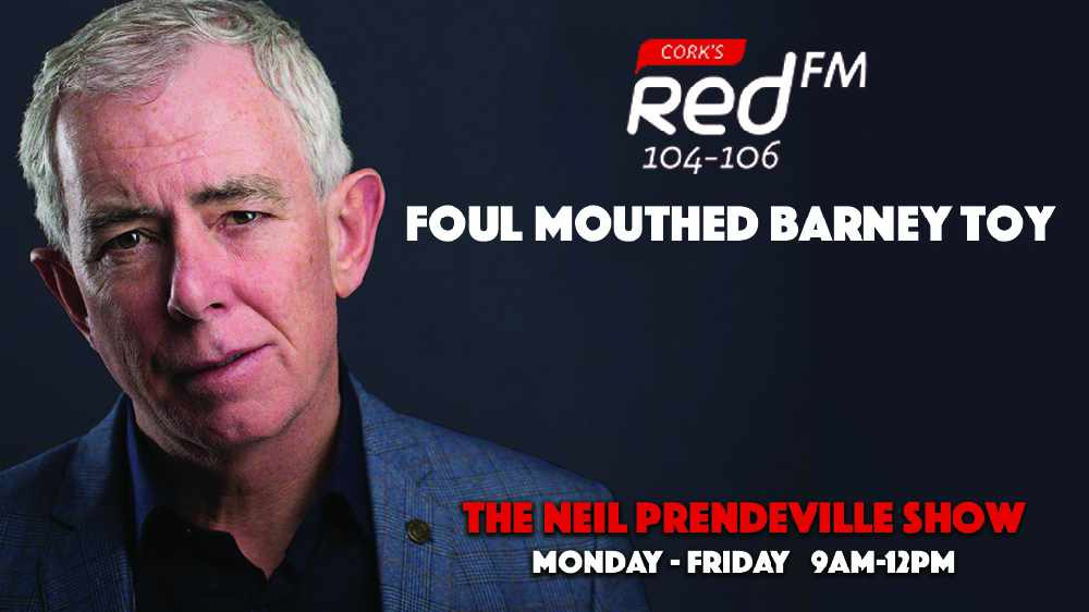 LISTEN BACK: Barry's foul mouthed Barney toy!
