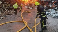 Nine Units Of Cork City And County Fire Brigade Battled A Major Fire In Churchfield Last Night