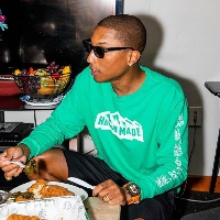 Pharrell's been busy in the studio